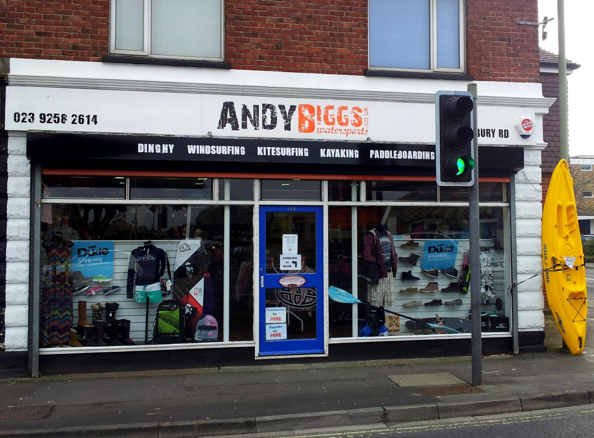 AndyBiggs Watersports Gosport Store