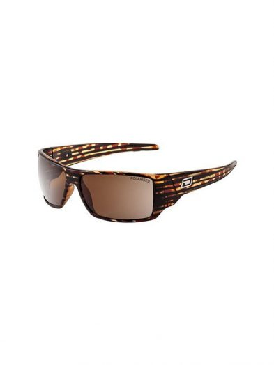 Dirty Dog Axe Sunglasses Dark Brown Line Frame (XL) Brown Polarised Lens