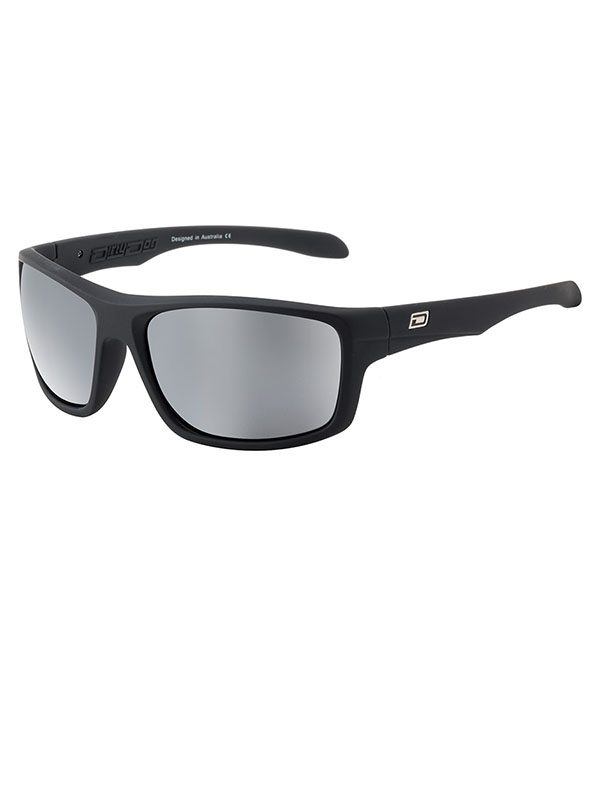 Dirty Dog Axle. Satin Black Frame. Grey/Silver Mirror Polarised Lens.