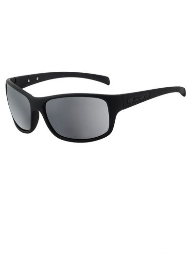 Dirty Dog Phin. Satin Black Frame. Silver Mirror Lens