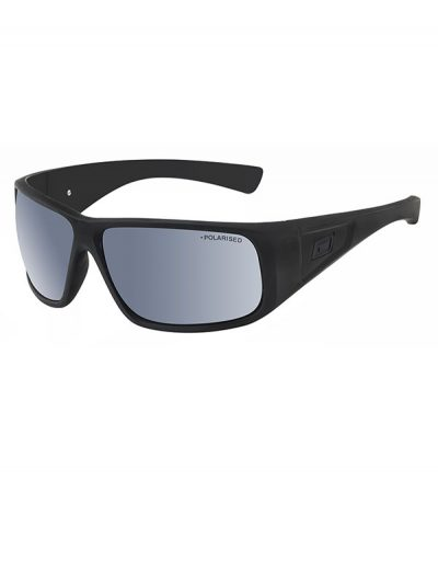 Dirty Dog Ultra. Satin Black Frame. Grey/Silver Mirror Polarised Lens.