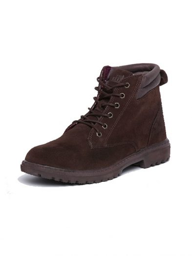 Dude Shoes Abetone Suede Leather Lace Up Ankle Boot Chocolate