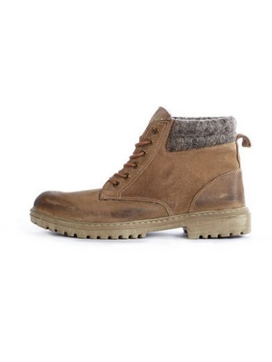 Hey Dude Shoes Abetone Suede Leather Lace Up Boot Toast