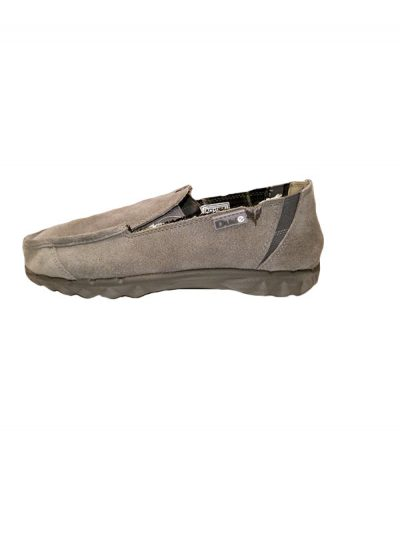 Hey Dude Shoes Farty Suede Slip On Mule Charcoal Grey