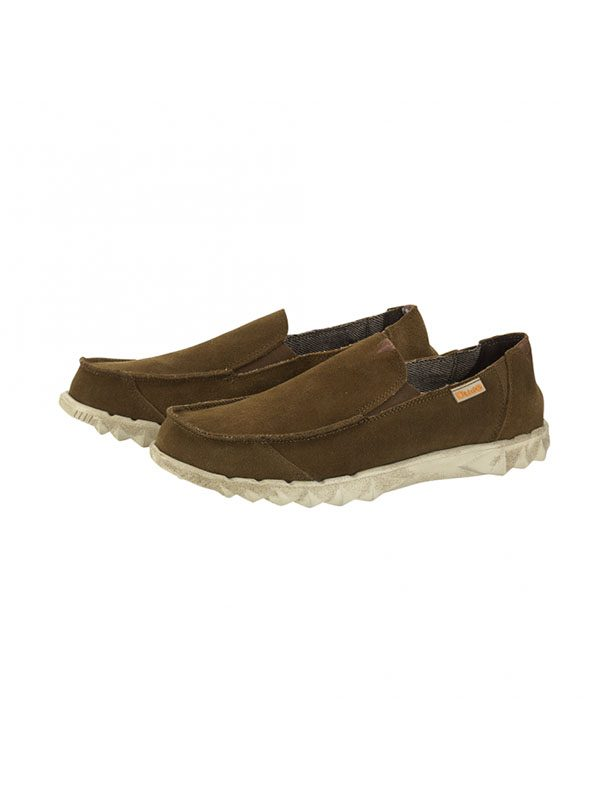 Hey Dude Shoes Farty Suede Slip On Mule Nut