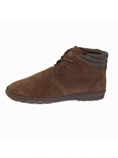 Hey Dude Shoes Pasione Mens Suede Desert Boot Chocolate