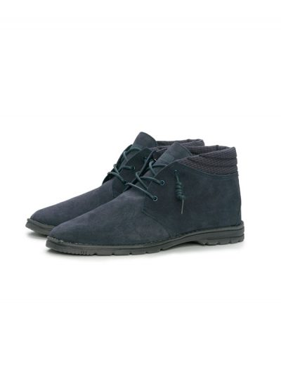 Hey Dude Shoes Pasione Mens Suede Desert Boot Navy Blue