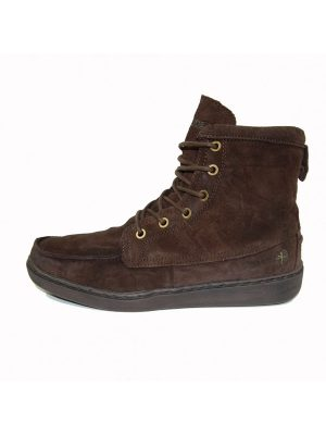 Hey Dude Shoes Tucker Slouch Boot Oiled Suede Chocolate