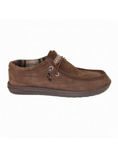 Hey Dude Shoes Wally Suede Casual Mocccasins Chocolate