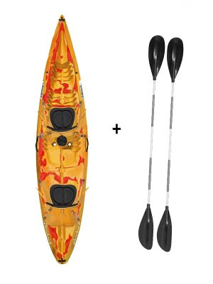 Islander Paradise 2 Double Sit On Top Kayak Saffron Red