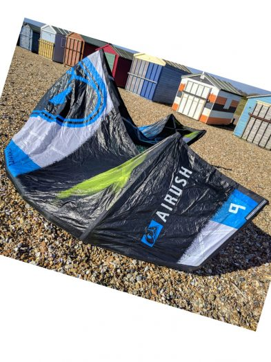 Second Hand Airush Varial X 9m kitesurfing kite with smart bar and lines and pump