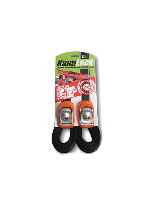 Kanu Lock Lockable Wire Reinforced Roof Rack Straps 3.3m