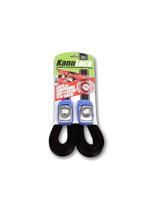 Kanu Lock Lockable Wire Reinforced Roof Rack Straps 5.4m