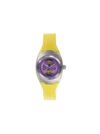 Animal Watches Ladies Jelly Kelli Watch Purple/Yellow