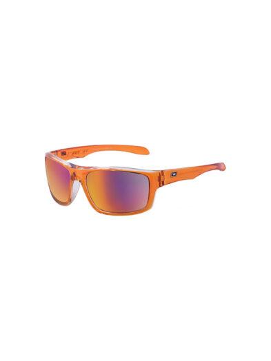 Dirty Dog Sunglasses Axle Crystal Orange Frame Grey Black Fusion Polarised Lens