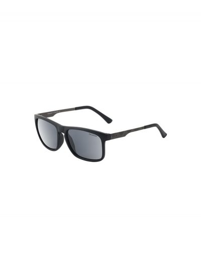 Dirty Dog Sunglasses Goat Satin Black Gunmetal Frame Grey Silver Mirror Polarised Lens