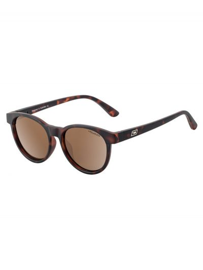 Dirty Dog Sunglasses Ladies Twisty Matt Tortoise Frame Brown Polarised Lens