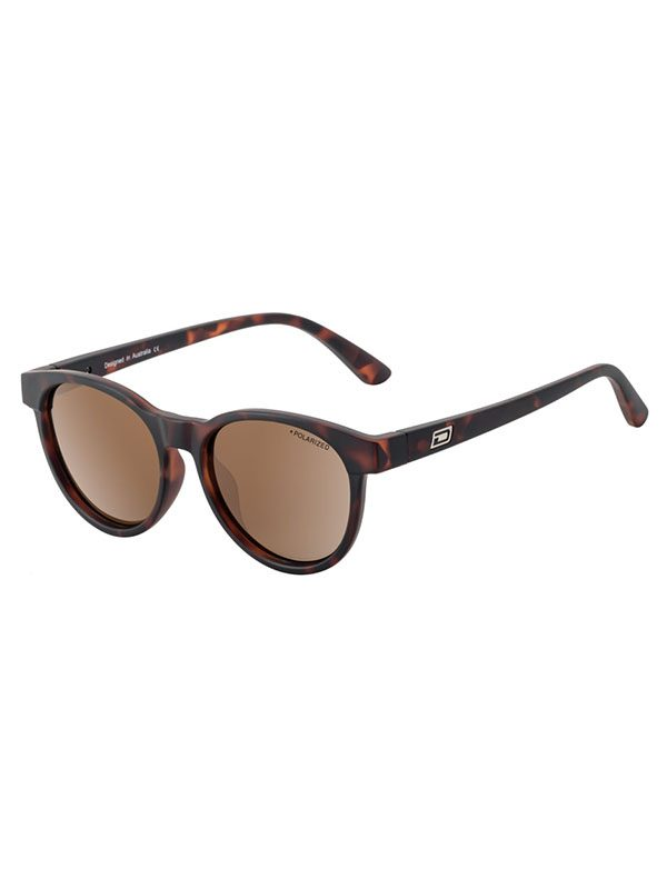 Dirty Dog Sunglasses Ladies Twisty Matt Tortoise Frame Brown Polarised Lens