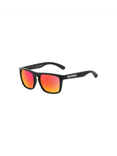Dirty Dog Sunglasses Monza Shiny Black Frame Grey Black Fusion Polarised Lens