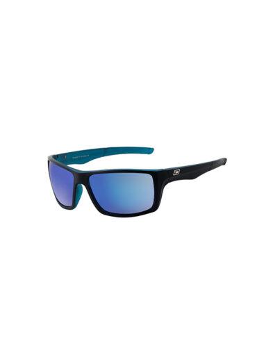 Dirty Dog Sunglasses Primp Satin Black/Crystal Blue Frame Blue Mirror Polarised Lens