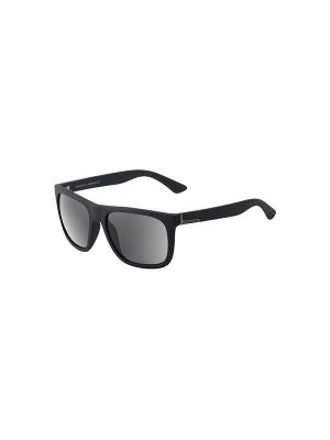 Dirty Dog Sunglasses Quag Satin Black Frame Grey Polarised Lens