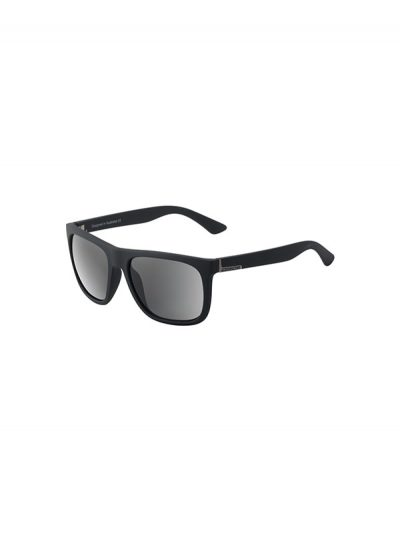 Dirty Dog Sunglasses Quag Satin Black Frame Grey Polarised Lens