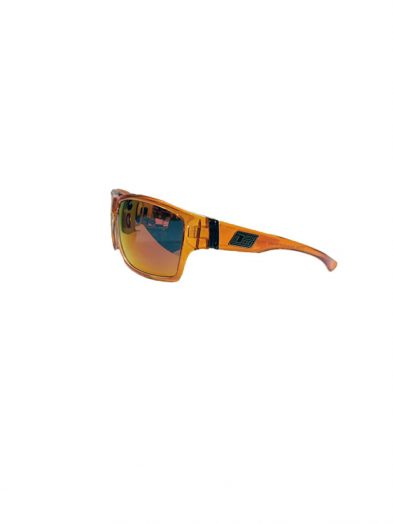 Dirty Dog Sunglasses Storm Crystal Orange Clear inner Frame Black Mirror Fusion Polarised Lens
