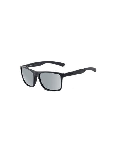 Dirty Dog Sunglasses Volcano Satin Black Frame Grey Silver Polarised Lens