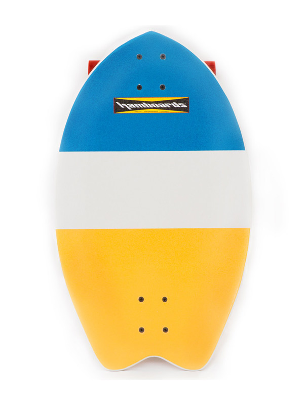 Hamboard Biscuit Yellow Tail Longboard Street Surfer