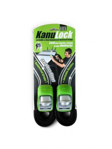 Kanu Lock Lockable Wire Reinforced Roof Rack Straps 2.5m