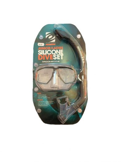 Typhoon Snorkel and mask set Junior,Ladies Black