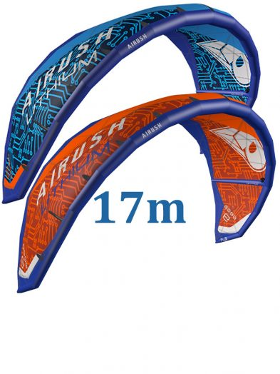 Airush lithium 2017 17m Blue or Orange Kitesurfing Kite