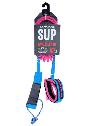 Dakine 5/16 SUP Paddleboard Coiled Ankle Leash Pink