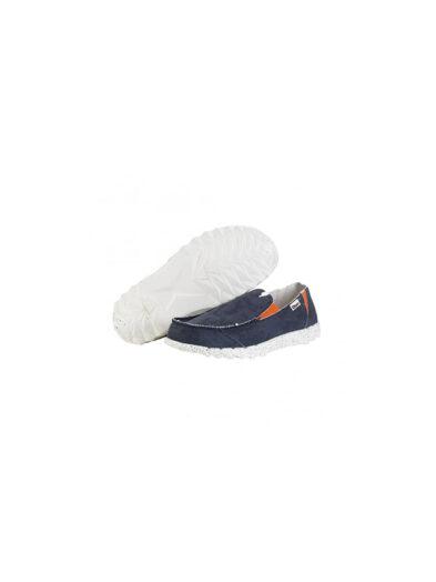 Hey Dude Shoes Farty Funk Navy Orange Slip On Mule 2