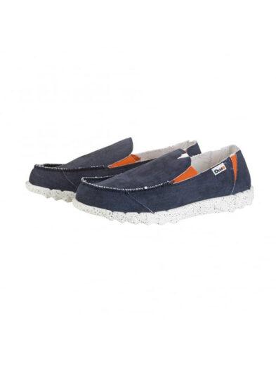 Hey Dude Shoes Farty Funk Navy/Orange Slip On Mule