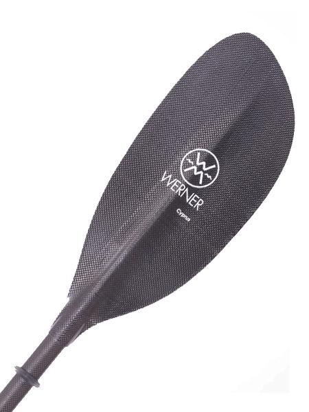 Werner Paddle 2 Part Adjustable Cyprus STR Carbon Kayaking Paddle 215cm Black Blade