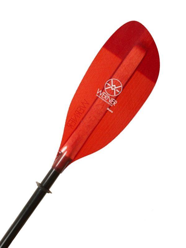 Werner Paddle 2 Part Adjustable Shuna STR Glass Kayaking Paddle 215 cm Red Blade