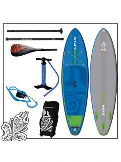 10'5''x 32'' Starboard Widepoint Inflatable Zen SUP Board 2017 Tiki Tech Package