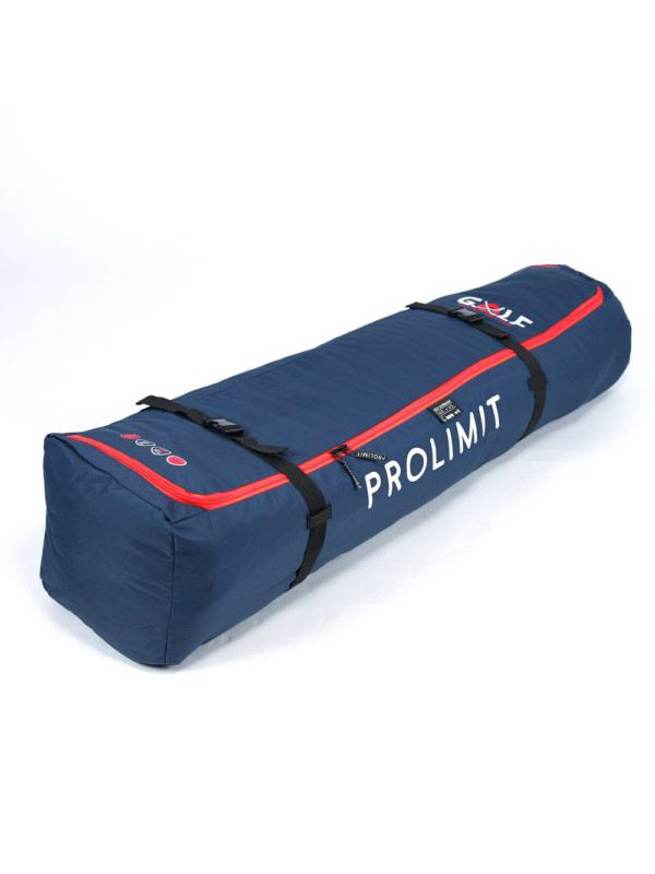 The prolimit golf bag ultra light is our lightest weight kite golf bag. Loading the bag from the top makes it an easy and compact travel bag. The Prolimit golf ultra light fits a complete quiver, 2-3 kites plus board. The Ultra light is padded on the bottom and corners to save weight, remaining part of the bag is made of our heavy duty 600D polyester. The prolimit easy storage loop makes the bag a small package.