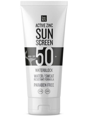 SPF50 SolRX Waterproof Active Zinc Water Block Sun Screen