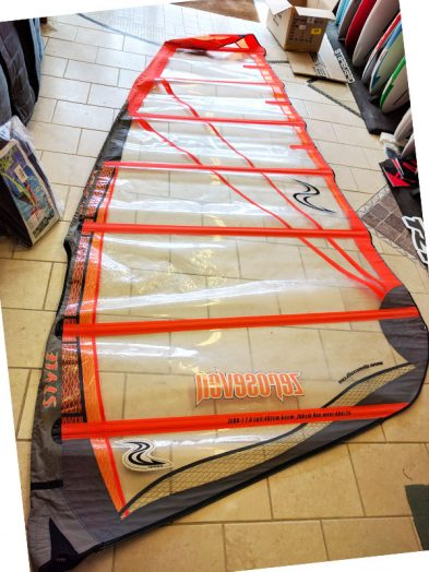 Second Hand Simmer style Zero Seven 7.0m Windsurfing Sail