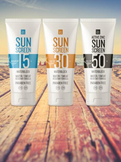 SolRX Waterproof Sun Screen