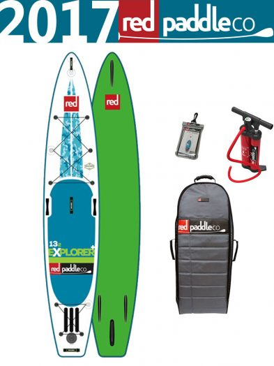 13'2 Red Paddle Co 2017 Explorer + Inflatable ISUP Paddleboard