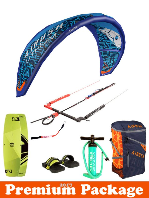 Airush Lithium 2017 Freeride Kitesurfing package