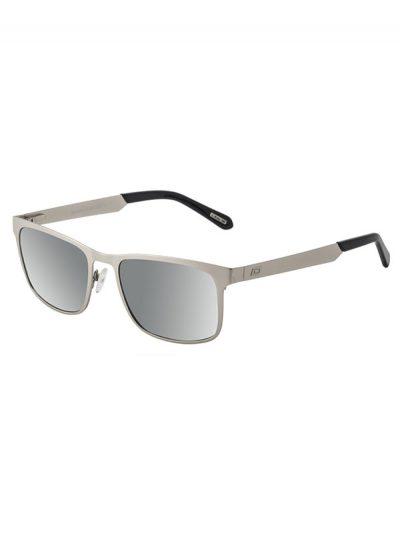 Dirty Dog Sunglasses Hurricane Silver Metal Frame Grey Silver Mirror Polarised Lens