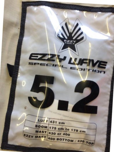 5.2m Ezzy Wave SE Second Hand Windsurfing Sail
