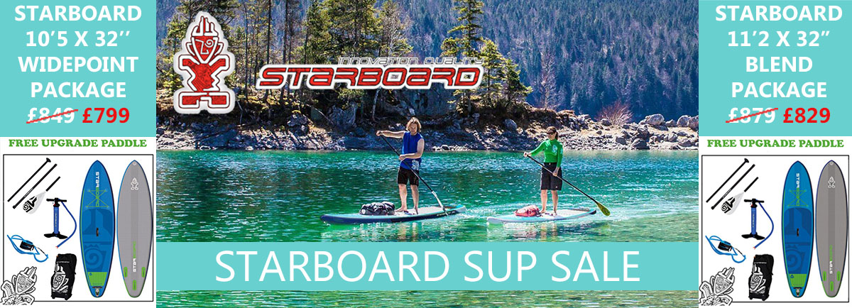 Starboard sup inflatable tuffskin packages