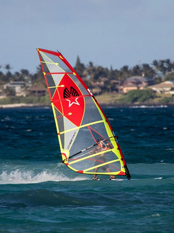 Ezzy cheetah 2018 Windsurfing sails action.