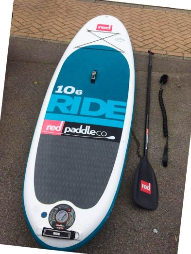 "Ex Demo Red Paddle Co 10'6 x 32"" Ride 2017 INFLATABLE Package 1"