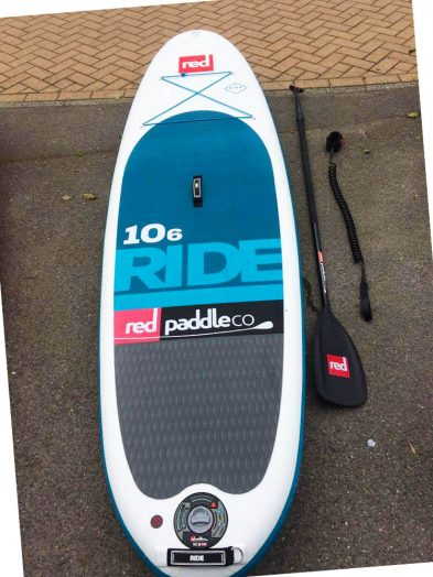 "Red Paddle Co 10'6 x 32"" Ride 2017 INFLATABLE (Package including board, bag, leash, adjustable paddle + pump)"